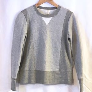 J. Crew Color Block Crew Neck Sweatshirt